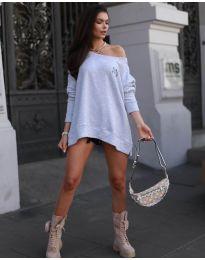 Блуза - код 5487 - сиво