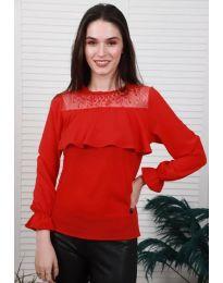 Блуза - код 0628 - 4 - црвена