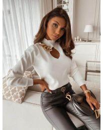 Блуза - код 9062 - бело