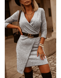 Фустан - код 9977 - сиво