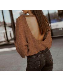 Блуза - код 2666 - кафеава