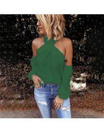 Блуза - код 6568 - зелена