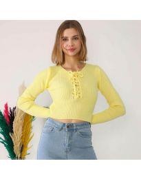 Блуза - код 6365 - жолта