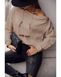 Блуза - код 4640 - кремова