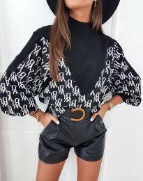 Блуза - код 3829 - црна