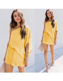 Фустан - код 9933 - жолта