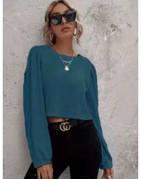 Блуза - код 5932 - тиркизна