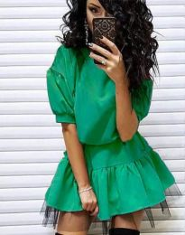 Фустан - код 2856 - зелена