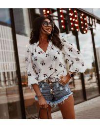 Блуза - код 6650 - бело