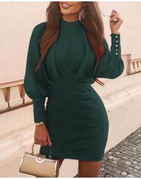 Фустан - код 4016 - темно зелена