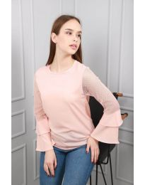 Блуза - код 0643 - 3 - розова