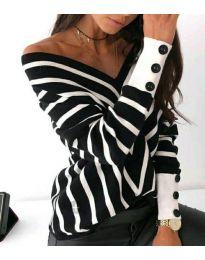 Блуза - код 1070 - црна