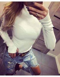 Блуза - код 5256 - бело