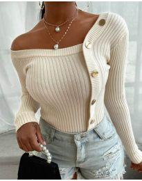 Блуза - код 1488 - бело