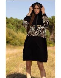Фустан - код 4546 - 2 - црна