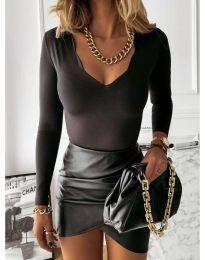 Блуза - код 4086 - црна