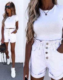 Кратки панталони - код 5301 - бело