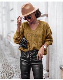 Блуза - код 137 - кафеава