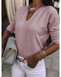 Блуза - код 8059 - розова