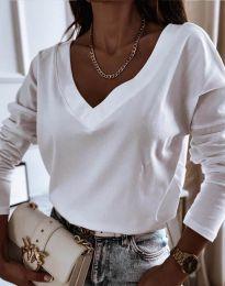 Блуза - код 12061 - бело