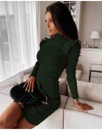 Фустан - код 8484 - темно зелена