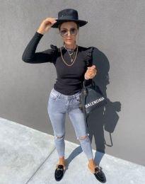 Блуза - код 1663 - црна