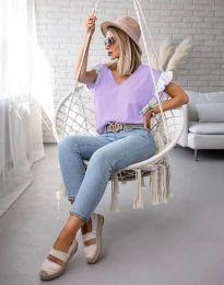 Блуза - код 2922 - виолетова