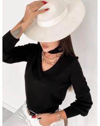 Блуза - код 2133 - црна