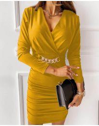 Фустан - код 8999 - жолта