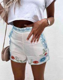 Кратки панталони - код 0955 - 1 - бело