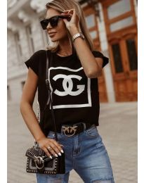 Блуза - код 6689 - црна