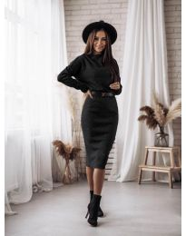 Фустан - код 7719 - црна