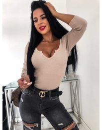 Блуза - код 487 - кремова
