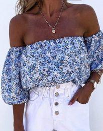Блуза - код 2075 - небесно сина