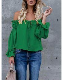 Блуза - код 5574 - зелена