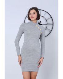 Фустан - код 7099 - 5 - сиво