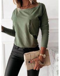 Блуза - код 0382 - зелена