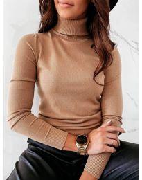 Блуза - код 8861 - 9 - кафеава