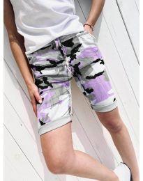 Кратки панталони - код 5077-3 - шарена