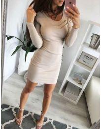Фустан - код 3298 - кремова