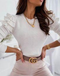 Блуза - код 3608 - бело