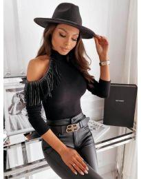 Блуза - код 11464 - 1 - црна