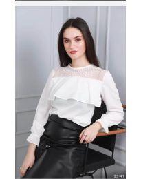 Блуза - код 0628 - 5 - бело