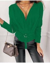 Блуза - код 5525 - зелена