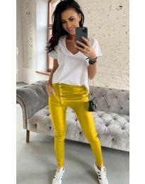 Панталони - код 954 - жолта