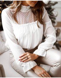 Блуза - код 0626 - 4 - бело