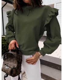 Блуза - код 6613 - путер зелена