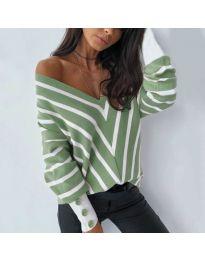 Блуза - код 6311 - зелена