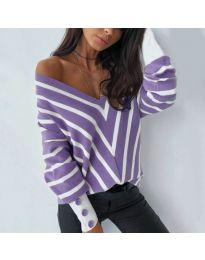 Блуза - код 6311 - виолетова