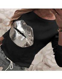Блуза - код 3963 - црна